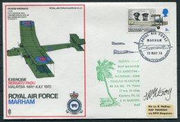 1970 GB Royal Air Force Museum Cover SC 15 / BFPS RAF Marham Akrotiri Tengah Singapore SIGNED - 1952-.... (Elizabeth II)