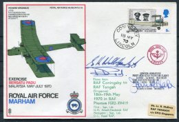 1970 GB Royal Air Force Museum Cover SC 15 / RAF Marham Akrotiri Tengah Singapore SIGNED RAF Coningsby - 1952-.... (Elizabeth II)