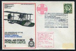 1973 GB Royal Air Force Museum Cover SC 23 / RAF Pitreavie Castle Subermarine Walrus BFPS - 1952-.... (Elizabeth II)