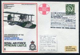 1973 GB Royal Air Force Museum Cover SC 23 / RAF Pitreavie Castle Subermarine Walrus BFPS Scotland - 1952-.... (Elizabeth II)