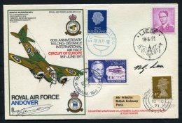 1971 GB Royal Air Force Museum Cover SC 24 / RAF Andover Belgium France Netherlands SIGNED, Bristol Blenheim Mk 1 - 1952-.... (Elizabeth II)