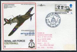 1970 GB Royal Air Force Museum Cover SC 29 / RAF Coltishall 'Battle Of Britain' BFPS Hawker Hurricane - 1952-.... (Elizabeth II)