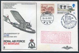 1970 GB Royal Air Force Museum Cover SC 31 / RAF St Mawgan Greenland Stromfjord VJ Day BFPS Copenhagen RDAF - 1952-.... (Elizabeth II)