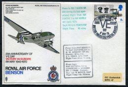 1970 GB Royal Air Force Museum Cover SC 32 / RAF Benson Northolt BFPS VE Day, Douglas Dakota, Arnhem Gutersloh Luneburg - 1952-.... (Elizabeth II)