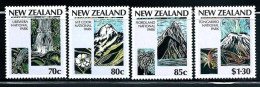 "New Zealand    ""National Parks""   Set   SC# 876-79   MNH"