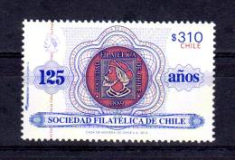 CHILE - 2014 - Philatelic Society Of Chile, 125th Anniv, Columbus- VF MNH