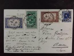 ALGERIE ALGER PALAIS 1939, Bel Affranchissement Carte Postale ALGER Casbah, Fontaine Turque Pour La Suisse