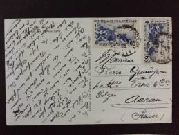 ALGERIE ALGER PALAIS 1939, Centenaire Philippeville Sur Carte Postale ALGER Casbah Rue Djamâa Saffir Pour La Suisse
