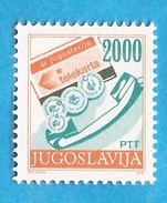 1989 2361 A  13 1-4  TELEPHON  TELEPHON-KARTE   DEFINITIVE POSTDIENST  JUGOSLAVIJA JUGOSLAWIEN    MNH