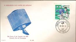 Brazil & FDC III Assembly Of INTELSAT Parts, São Paulo, 1978 (1329) - FDC