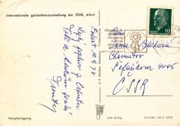 K9789 - DDR (1972) Erfurt: International Horticultural Exhibition And Fair Erfurt DDR (postcard: Dresden) Tariff: 10 Pf