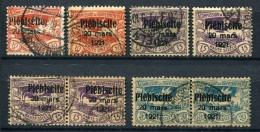 98674) ABSTIMMUNGSGEBIETE Oberschlesien - Lot Gestempelt Aus 1921, 106.- €