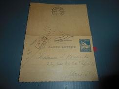 316 - Carte-Lettre , ALGER à PARIS , 1931