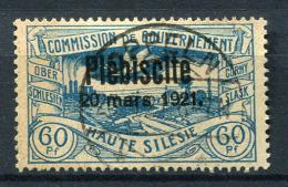 98677) ABSTIMMUNGSGEBIETE Oberschlesien # 37 Gestempelt Aus 1921, 30.- €