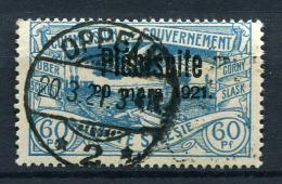 98678) ABSTIMMUNGSGEBIETE Oberschlesien # 37 Gestempelt Aus 1921, 30.- €
