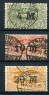 98684) ABSTIMMUNGSGEBIETE Oberschlesien # 41-43 Gestempelt Aus 1922, 24.- €