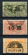 98686) ABSTIMMUNGSGEBIETE Oberschlesien # 41-43 Gestempelt Aus 1922, 24.- € - Abstimmungsgebiete