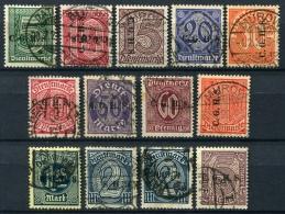 98691) ABSTIMMUNGSGEBIETE Oberschlesien Dienst # 8-20 Gestempelt Aus 1920, 65.- € - Deutschland