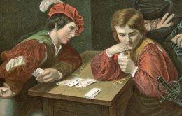 GAME OF CARDS FINE OLD Postcard - Cartes à Jouer