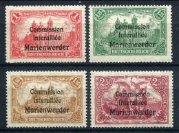 98698) ABSTIMMUNGSGEBIETE Marienwerder # 26-29 Postfrisch Aus 1920, 40.- €