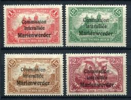 98699) ABSTIMMUNGSGEBIETE Marienwerder # 26-29 Postfrisch Aus 1920, 40.- €