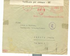 GFA - KOLN AM RHEIN - TIMBRO ROSSO, 1940 - CENSURA TEDESCA - CENSURA ITALIANA - TIMBRO POSTE GENOVA -ITALIA