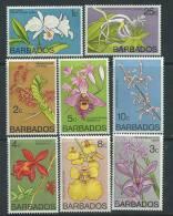 Barbade N° 373 / 88 XX  Série Courante Fleurs,  Les 16 Valeurs Sans Charnière TB