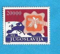 1989 2362    SATELIT  ERDE GEOGRAFIA   DEFINITIVE POSTDIENST  JUGOSLAVIJA JUGOSLAWIEN    MNH