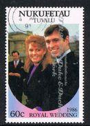 Tuvalu - Nukufeta 1986 Royal Wedding (2nd) 60c Type 1 Good/fine Used [9/10867/2D]