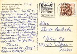 K9836 - BRD (1978) 8221 Inzell: Luftkurort, Wintersport, Inzell An Der Deutschen Alpenstrasse (postcard) Tariff: 50 Pf.
