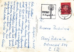K9837 - BRD (1961) (14a) Stuttgart 9: STUTTGART City Of Congress (logo: Fernsehturm 211 M) (postcard: Stuttgart)
