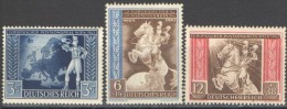 Germany, 1942, European Postal Conference Mi. 820-22, MNH