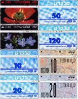 8 Télécartes Usagées Différentes. (CT54) - Israel