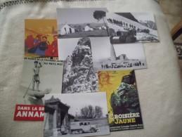 Lot De 8 Cartes ...REPRODUCTIONS...LA CROISIERE JAUNE..CITROEN - 5 - 99 Karten