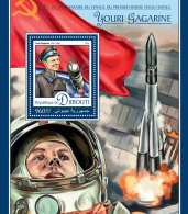 DJIBOUTI 2016 ** Yuri Gagarin Space Raumfahrt Espace S/S - IMPERFORATED - A1642
