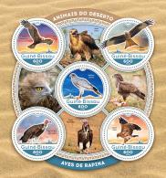 GUINEA BISSAU 2016 ** Birds Of Prey Raubvögel Greifvögel Rapaces M/S - IMPERFORATED - A1642