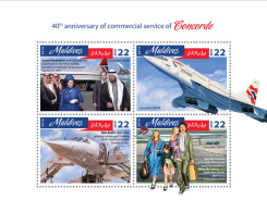 MALDIVES 2016 ** Queen Elizabeth II. Concorde M/S - IMPERFORATED - A1642