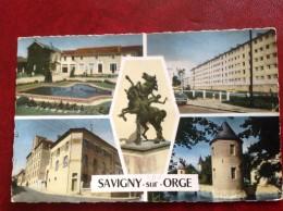 91 SAVIGNY SUR ORGE Multivues Mairie Ecoles Lycée HLM - Savigny Sur Orge