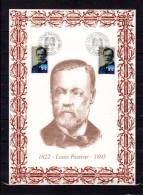 """FRANCE 1995 : Encart 1er Jour N°té / Soie Rare (327/1200) Edit° A.M.I.S. : """" LOUIS PASTEUR """" 2 N°YT 2925. Parf état. FDC - Louis Pasteur"""