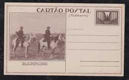 Brazil Brasil 1934 BP118 MNH Stationery Card NORDESTE VAQUEIROS Cowboy - Entiers Postaux