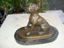 Boxer Sur Marbre - Bronzes