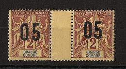 Grande Comore N°Yv. 20 Et 20A Se Tenant - Chiffres Espacés - Neuf Luxe ** - MNH - Postfrisch - Cote 10.5 EUR