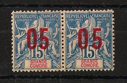 Grande Comore N°Yv. 22 Et 22A Se Tenant - Chiffres Espacés - Neuf Luxe ** - MNH - Postfrisch - Cote 14.3 EUR