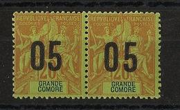 Grande Comore N°Yv. 23 Et 23A Se Tenant - Chiffres Espacés - Neuf Luxe ** - MNH - Postfrisch - Cote 13,3 EUR