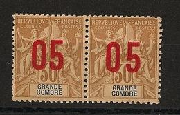 Grande Comore N°Yv. 25 Et 25A Se Tenant - Chiffres Espacés - Neuf Luxe ** - MNH - Postfrisch - Cote 19,7 EUR