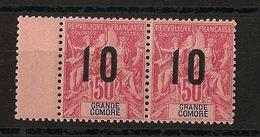 Grande Comore N°Yv. 28 Et 28A Se Tenant - Chiffres Espacés - Neuf Luxe ** - MNH - Postfrisch - Cote 102 EUR