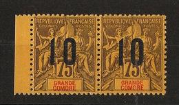 Grande Comore N°Yv. 29 Et 29A Se Tenant - Chiffres Espacés - Neuf Luxe ** - MNH - Postfrisch - Cote 177,5 EUR