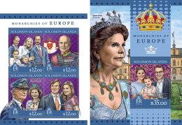 SOLOMON ISLANDS 2016 ** Monarchies Of Europe Monarchien M/S+S/S - OFFICIAL ISSUE - A1643