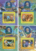 BURUNDI 2015 ** Jules Verne Space Raumfahrt 4 S/S - OFFICIAL ISSUE - A1608