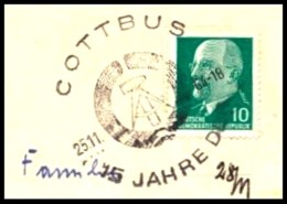 DDR / East-Germany: Stempel '15 Jahre DDR, 1964' / Cancel '15th Anniversary GDR', Cottbus [O-7500 - 03046]